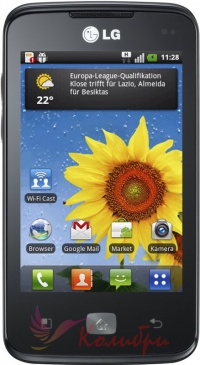 LG E510 Optimus Hub Black - основное фото