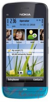 Nokia C5-03 Black Petrol Blue - основное фото